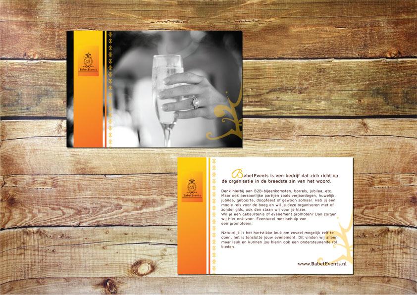 Ontwerp BabetEvents promotie flyer
